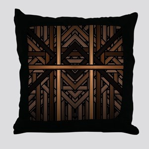 Woven Wood Throw Pillow